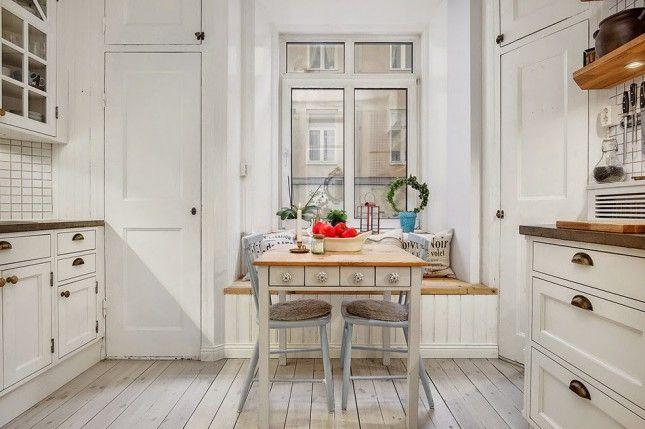 Kuchnia w tradycji skandynawskiej,biała kuchnia z drewna  inspiracje domowe