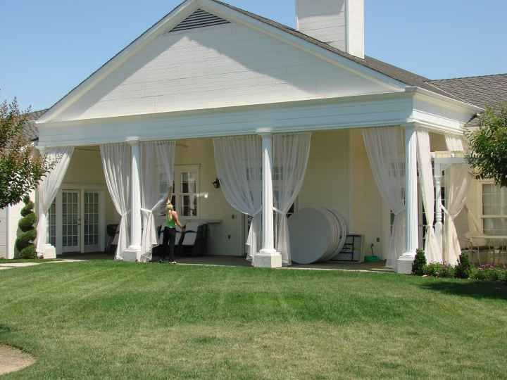 My Dream Outdoor Dining Area Would Be A Covered Patio Or Deck Adorned With  Net Curtains