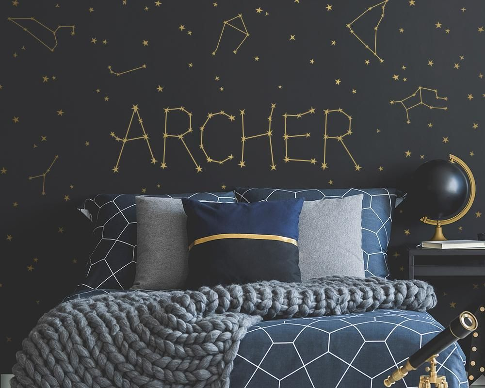 Personalized Constellation Name Wall Decal Set in 10  Space