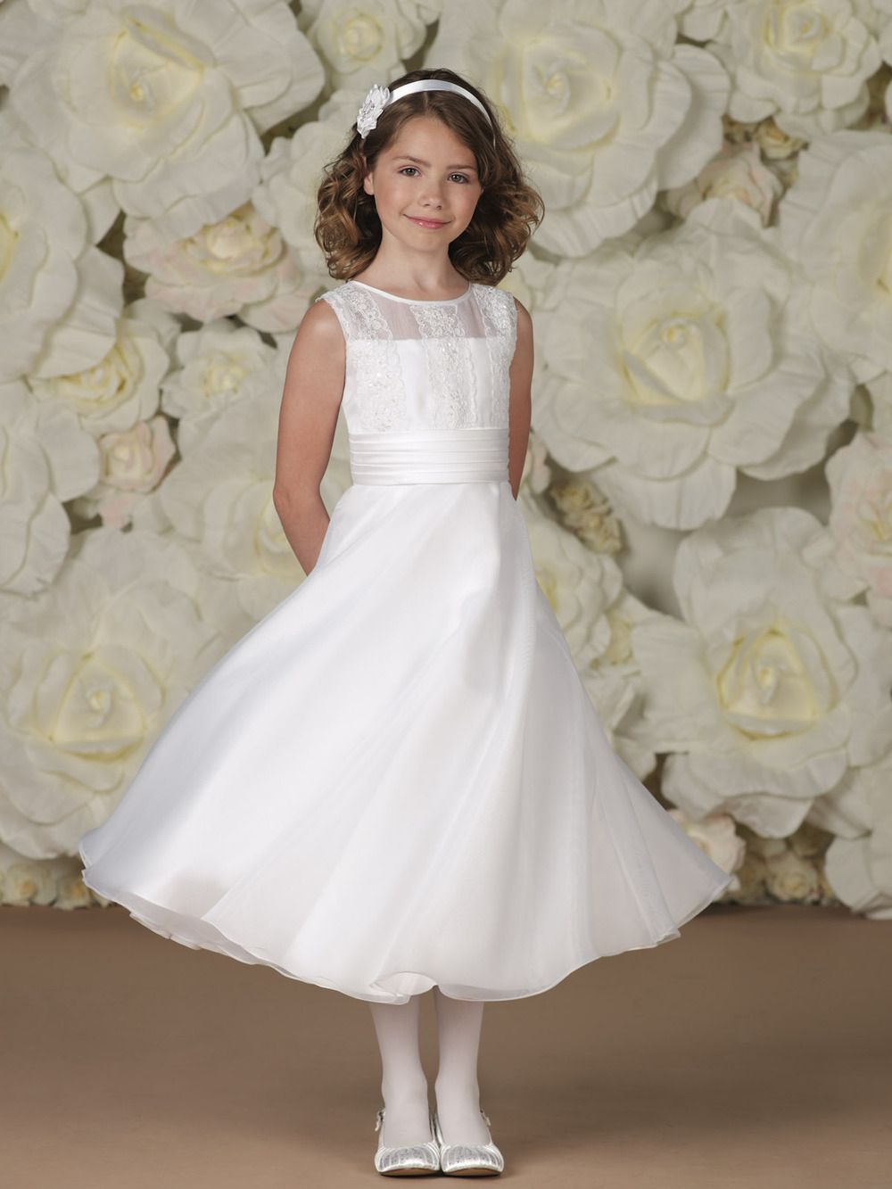 Free shippingcustom made flower girl dress simple a line round custom made flower girl dress simple a line round neck appliques lace organza ombrellifo Choice Image