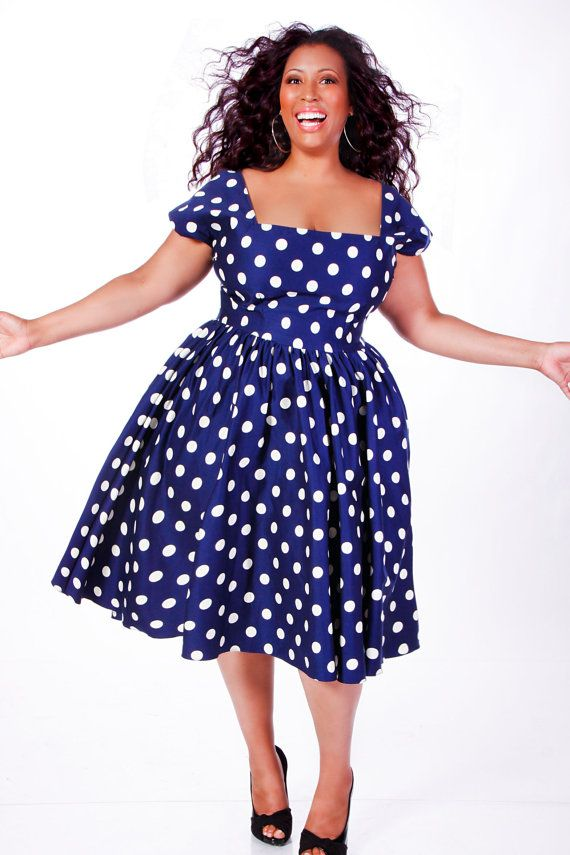 JIBRI Plus Size Polka Dot Swing Dress. This is fabulous! I so need ...