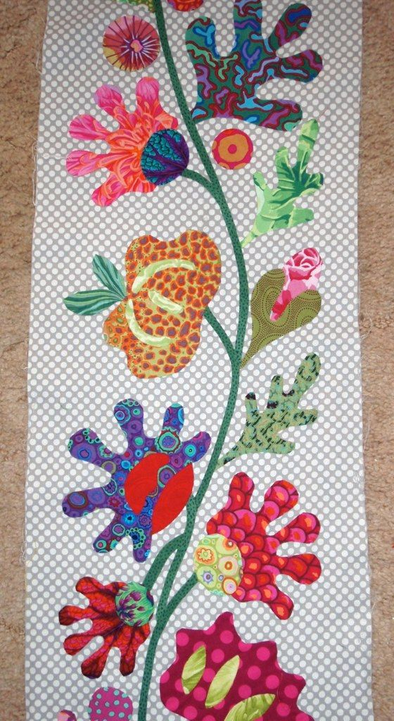 Kim Mc Lean Flower Garden | Applique patterns, Applique