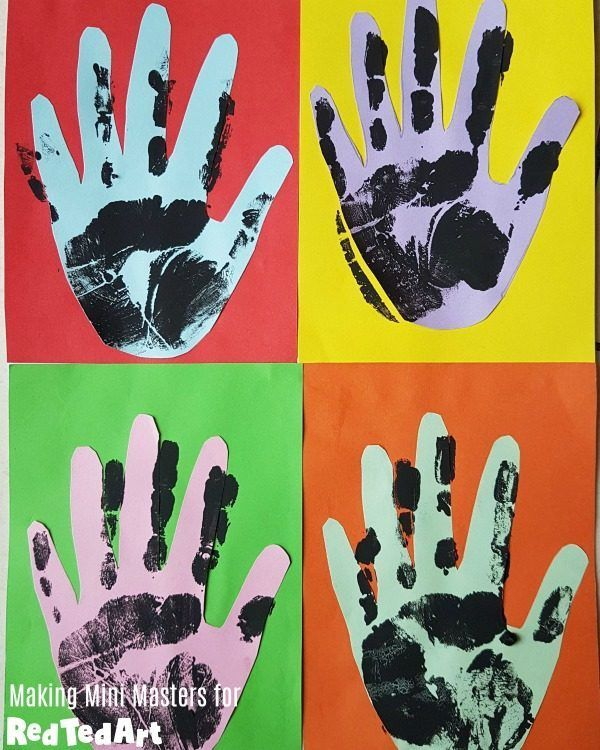 Handprint Pop Art Activity - Andy Warhol - Red Ted Art - Make crafting with kids easy & fun