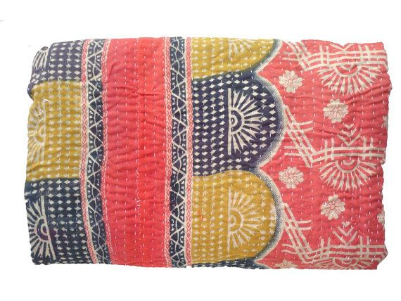 Hey, I found this really awesome Etsy listing at https://www.etsy.com/listing/196500435/vintage-throw-kantha-quilt-alias-ralli