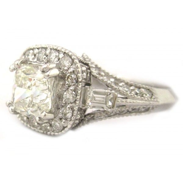 Cushion Cut Diamond Engagement Rings White And Rose Gold 43