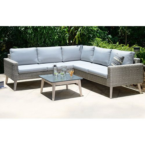 newest collection 95ed7 8ee35 Dayne 5 Seater Rattan Corner Sofa Set | 户外 | Rattan corner ...