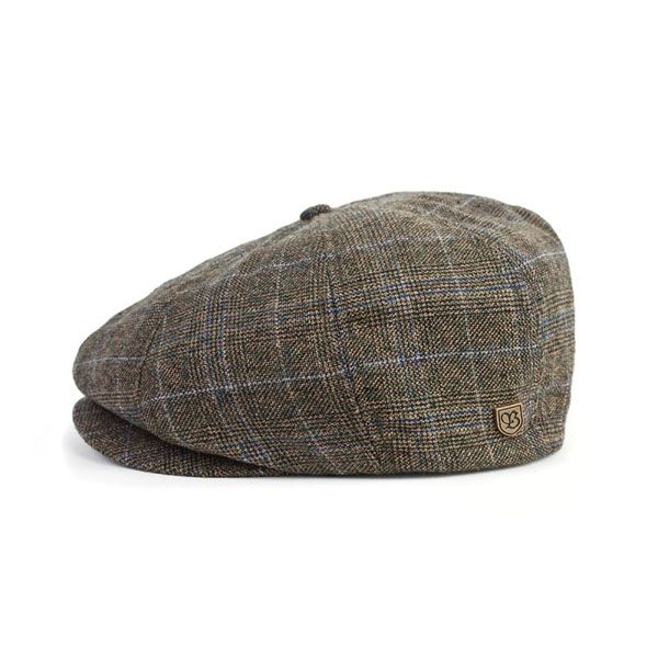 4f2a27a439d Brood Hat by Brixton- Olive Navy Plaid (Sale price!)