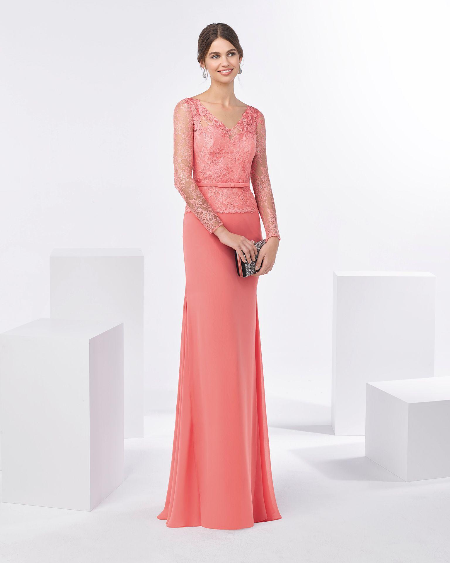 Contemporáneo Lace Long Sleeve Cocktail Dress Embellecimiento ...