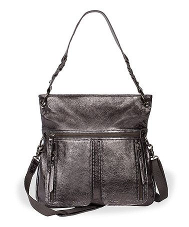 4ee9d2defa0 This Graphite Metallic Pax Leather Crossbody Bag by The Sak is ...