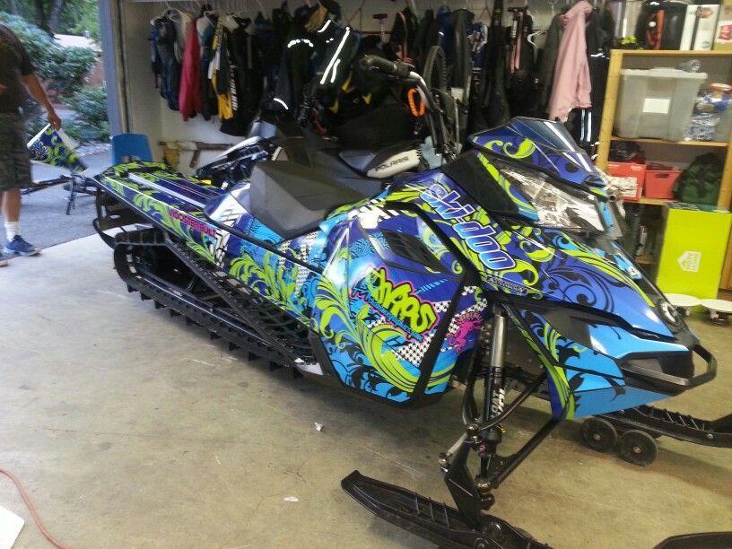 Skidoo snowmobile wrap 206466