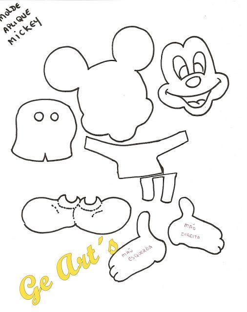 Meio Ligado: Moldes - Minnie e Mickey Mouse | Wool...... | Pinterest ...