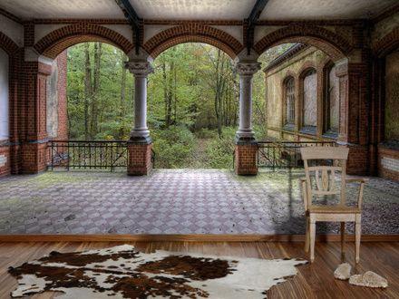 0281 fototapete vintage villa 2 bildtapete. Black Bedroom Furniture Sets. Home Design Ideas