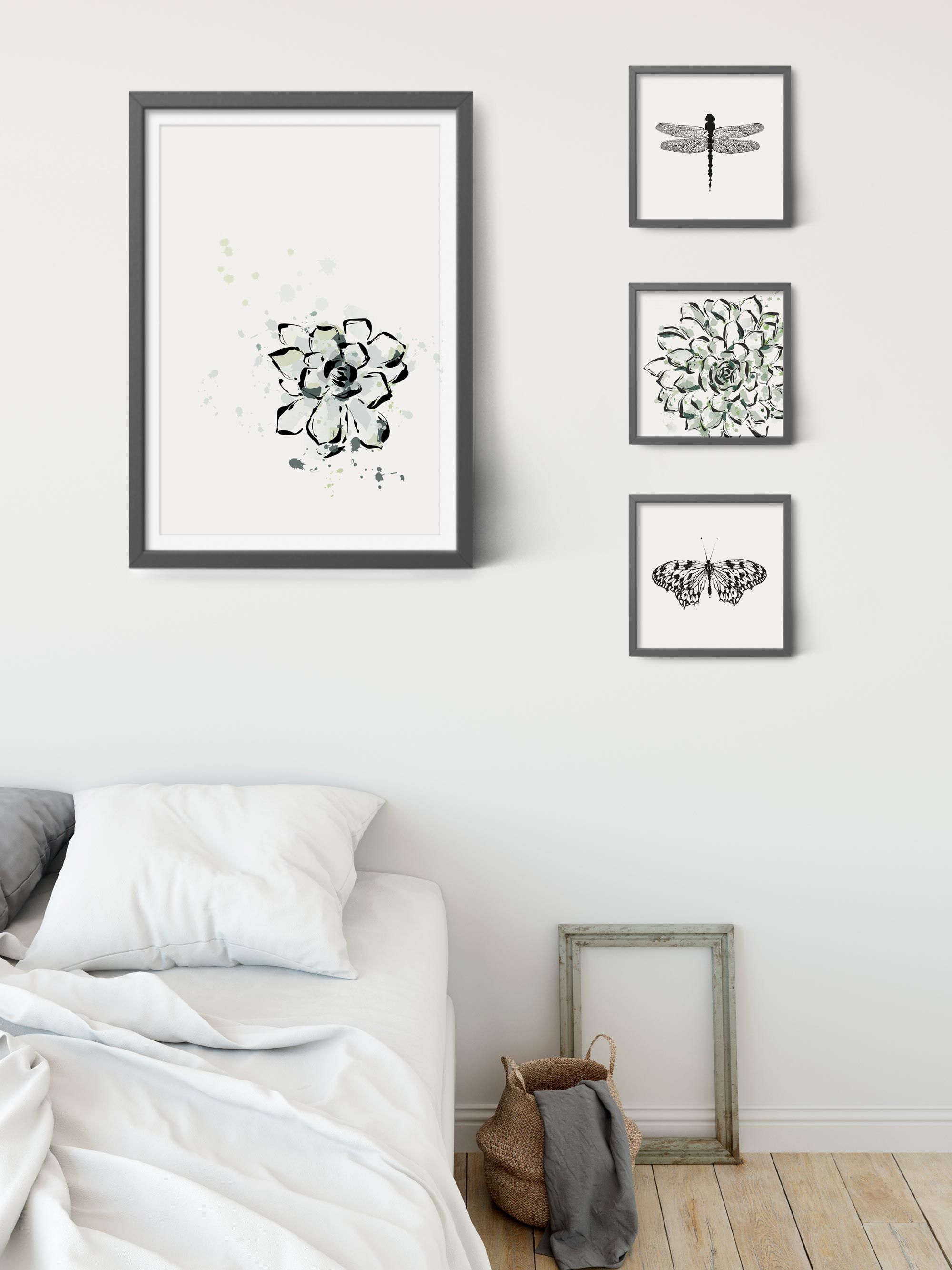 Succulent print succulent wall art printable succulent art cactus