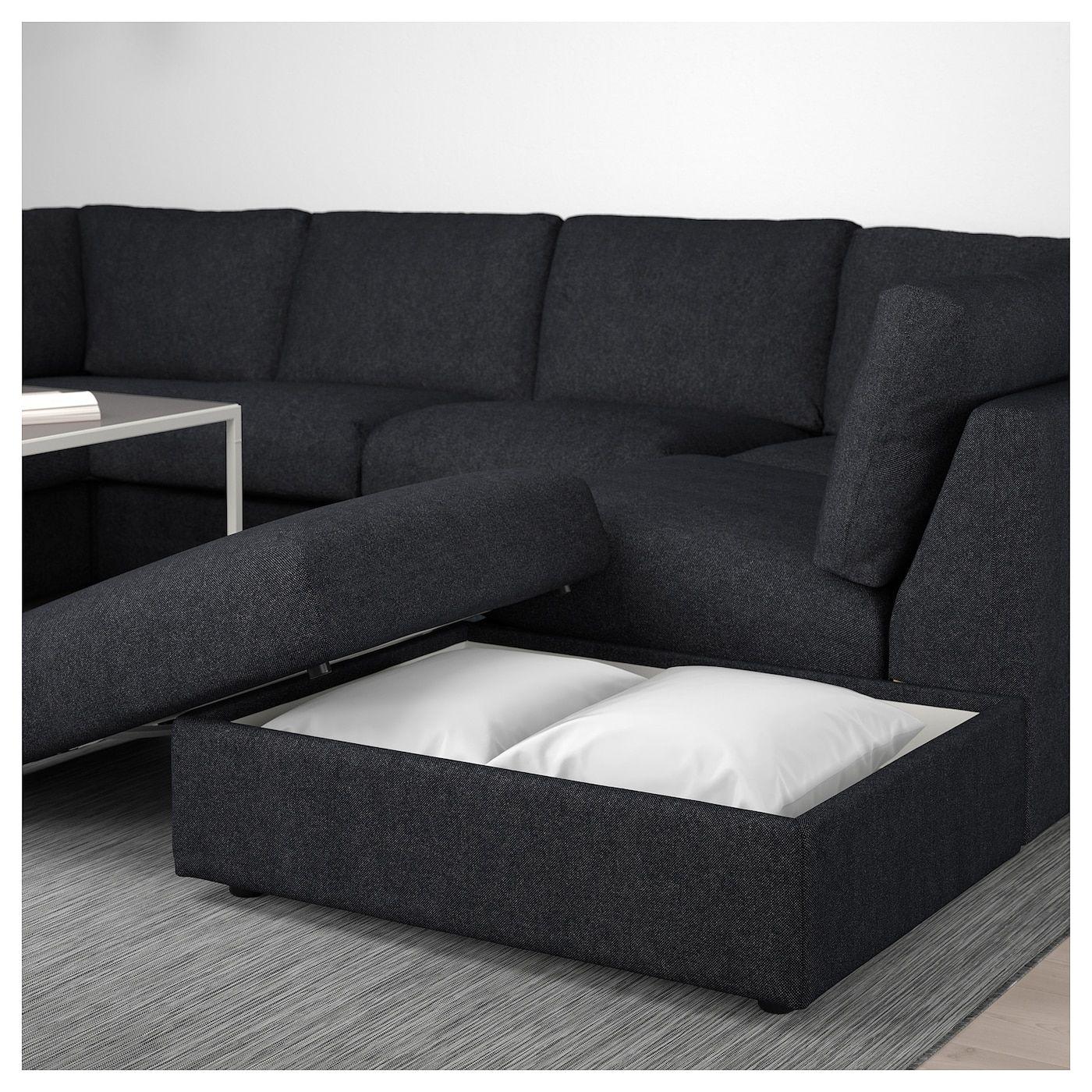 Vimle Sofa U Form 6 Sitzig Ohne Abschluss Tallmyra Schwarz Grau Modulares Ecksofa Sofa Sofa U Form