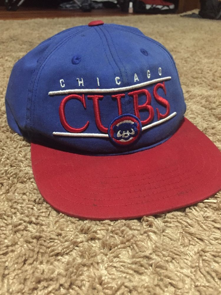 9b7d032f5ed Chicago Cubs Hat Vintage Blue Snapback  fashion  clothing  shoes   accessories  mensaccessories