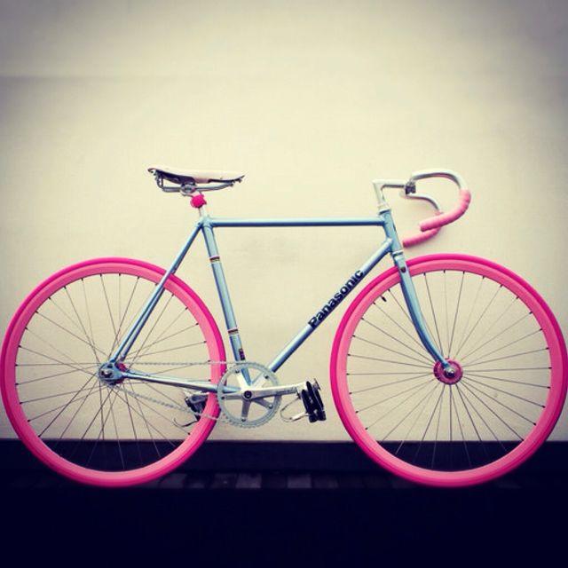 Blue Bike, Pink Wheels | Bicycle | Pinterest | Bike, Fixie and Bicycle
