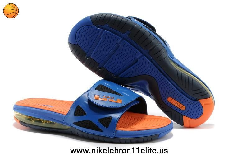 Fast Shipping To Buy Superhero Nike Air LeBron 2 Elite Slide Sandal Hyper  Blue Bright Citrus-Black 325d70c2f9