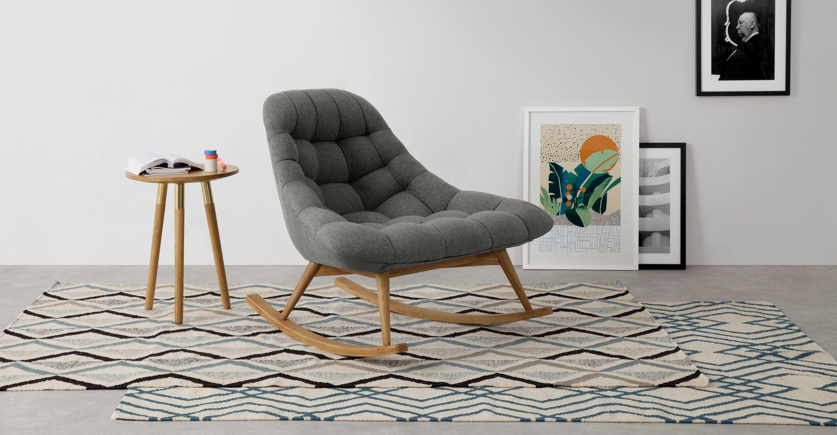 Gut Kolton Schaukelstuhl, Marlgrau ▻ Neues Design Für Dein Zuhause! Entdecke  Jetzt Sofas Und Sessel