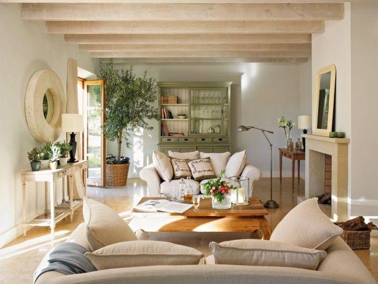 beautiful wohnzimmer landhausstil braun photos - amazing design