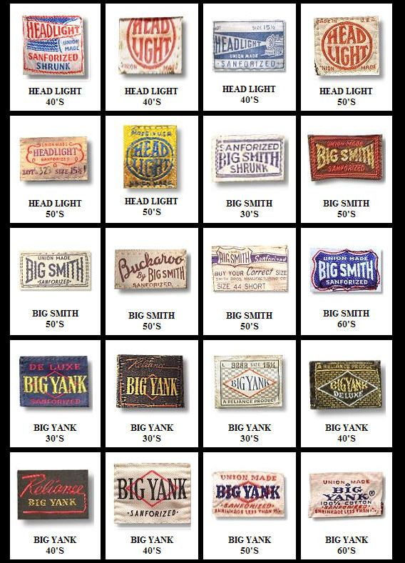 I Copied This Library Of Vintage Workwear Labels To My Files A Couple Years Ago I M Not Sure Exactly Where They Workwear Vintage Vintage Tags Vintage Labels