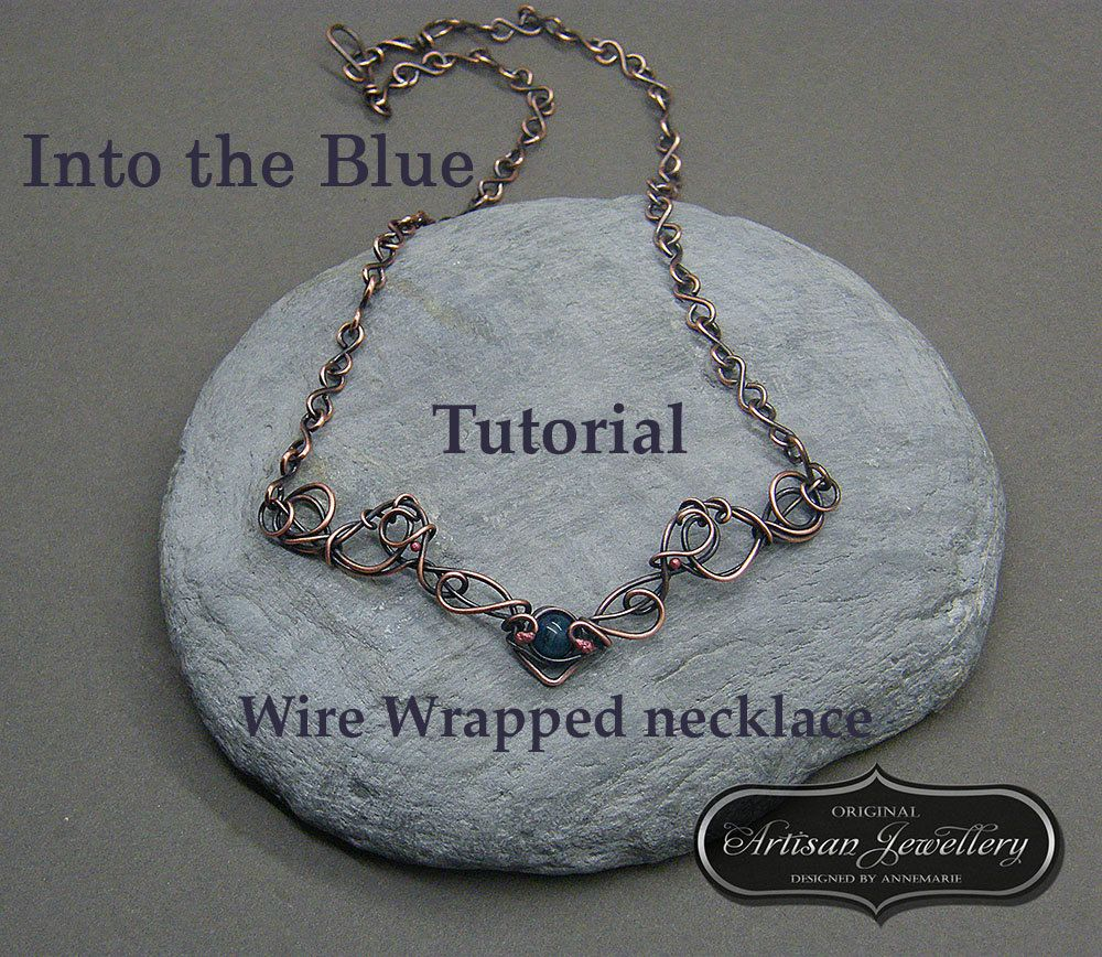 Wire Wrapped Necklace Tutorial, Pattern for Wire Wrapping, Making ...