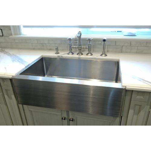 Stainless Steel Apron Front Sink Cantrio Koncepts Farmhouse Ki