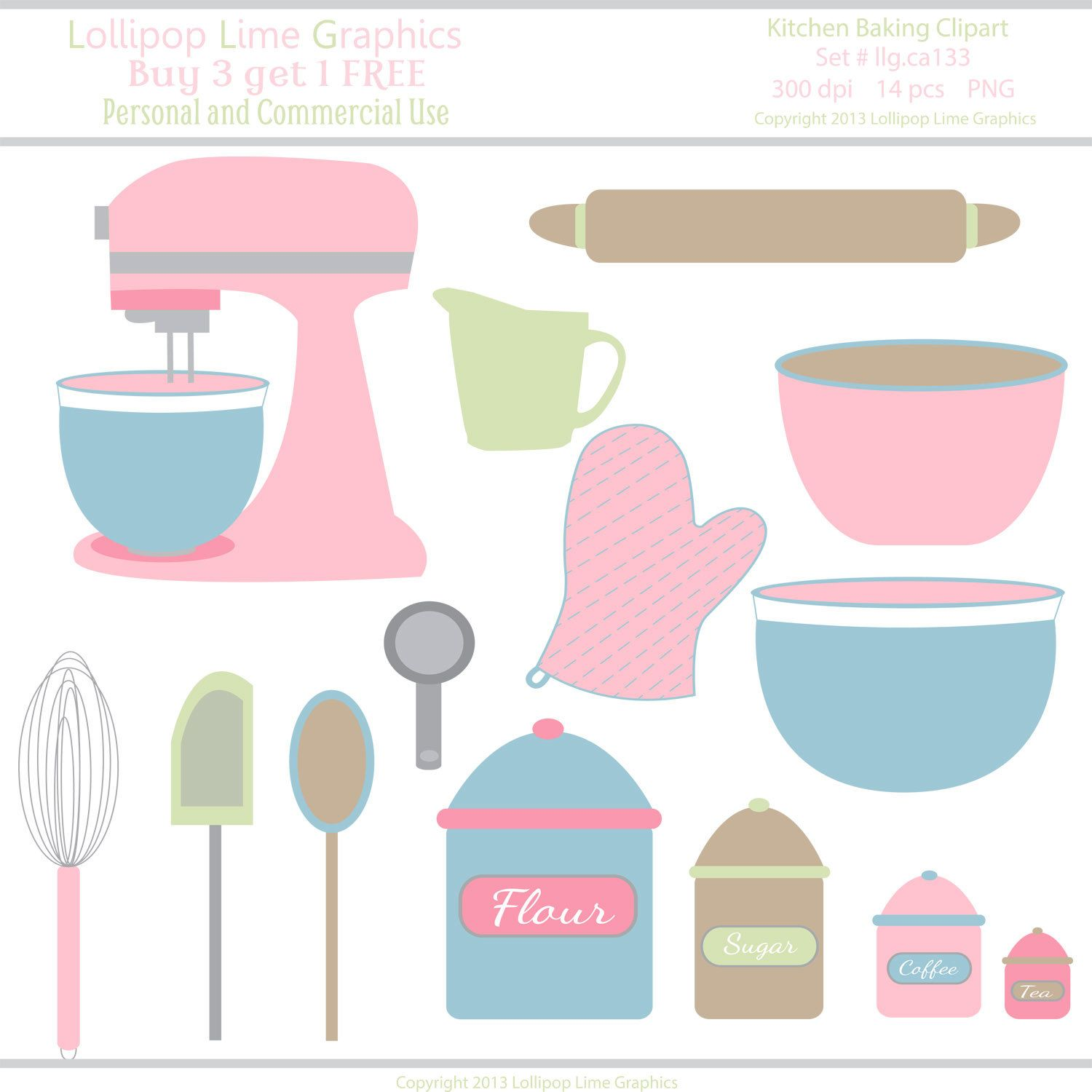 Kitchen Pastel Pink Mixer Bowls Utensils Vector Ilration Clipart The Interior Designs