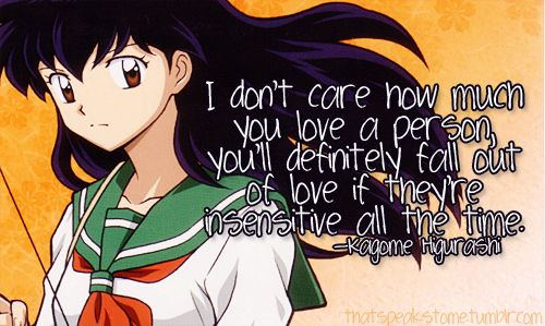 Kagome Love Quotes Anime Quotes Japanese Anime Anime