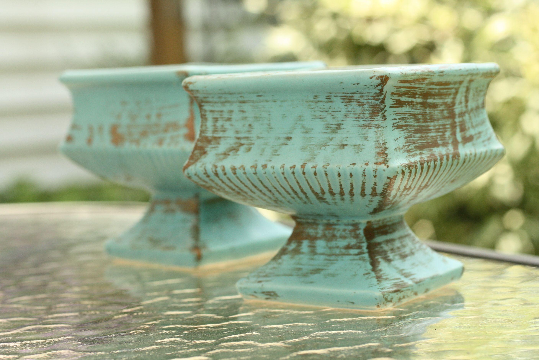 Turquoise McCoy Pottery - $2 ea.