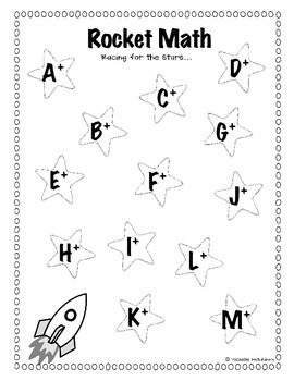 Students can keep track of their Rocket Math level