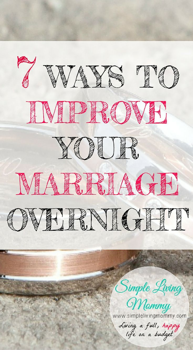7 ways to improve your marriage overnight simple living