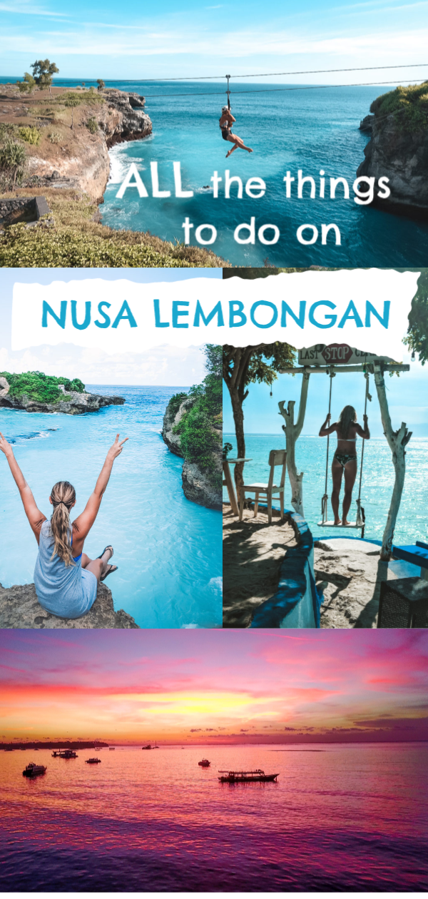 For a bucket list of things to do on Nusa Lembongan and Nusa Ceningan, Bali, look no further! We love these 2 tiny islands connected by a yellow bridge that only scooters can travel on. There is so much to see on the Nusa Islands! If you are on a Bali trip, you have to pop over to these islands!