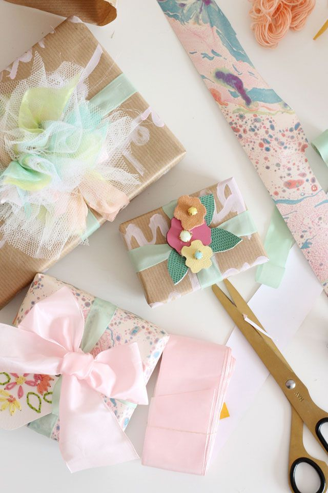 Spring Gift Wrapping Diy Packages Floral Gift Wrap