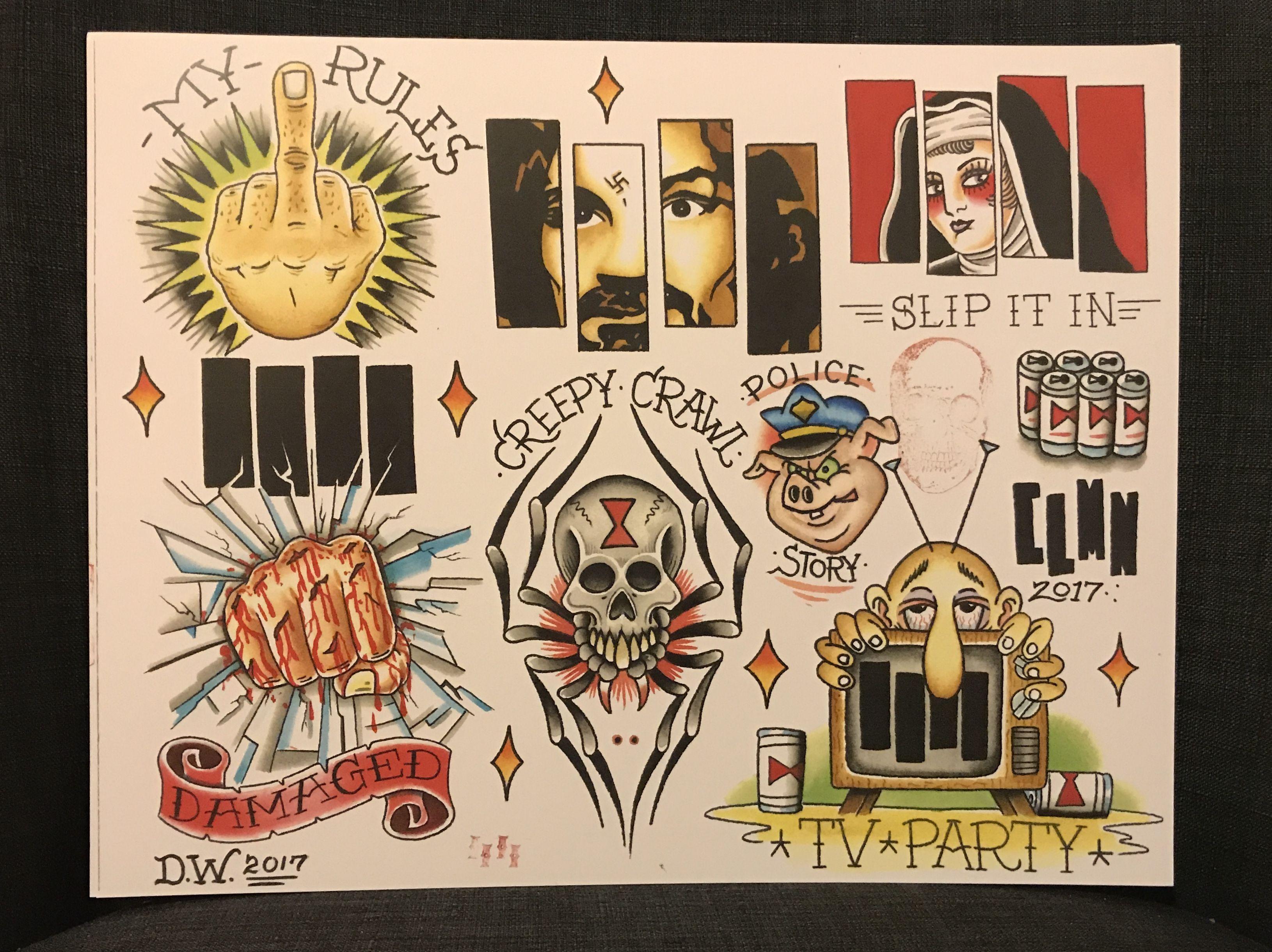 Black Flag Flash Black Flag Tattoo Traditional Tattoo Flash Tattoo Flash Art