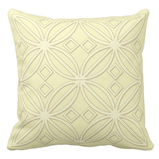 Pale Yellow Throw Pillow |