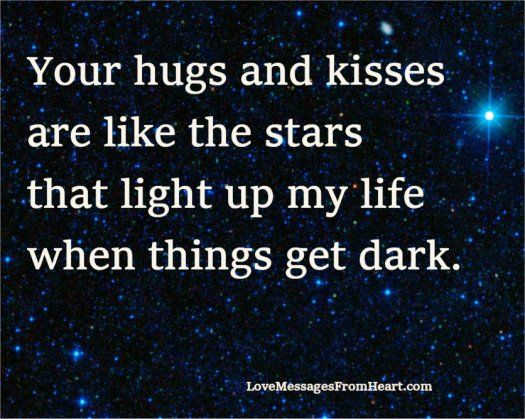 Your Hugs And Kisses Love Messages From The Heart Hugs And Kisses Quotes Hugs And Kisses Kissing Quotes
