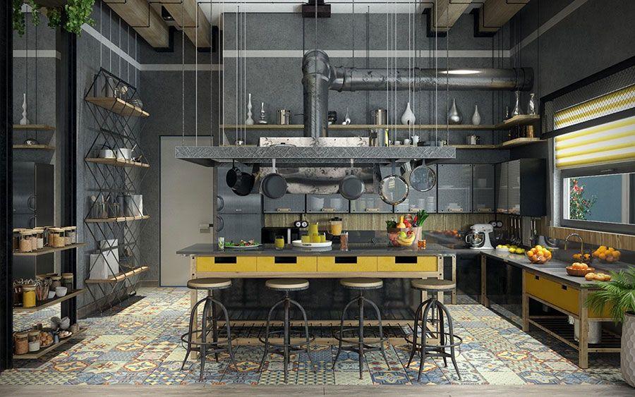 Arredamento Alternativo ~ Arredamento stile industriale per loft idee dal design unico