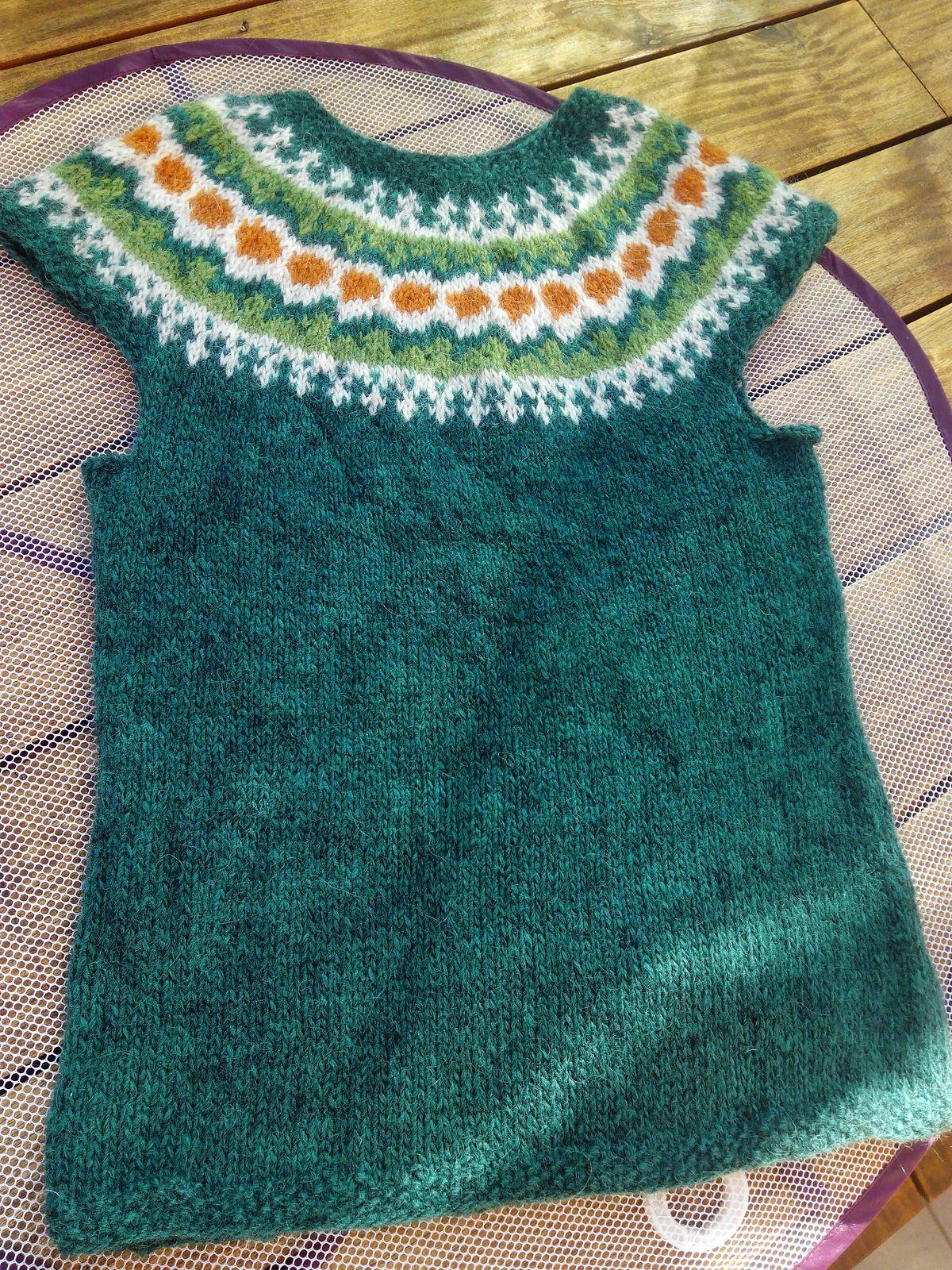 Ravelry: Project Gallery for Léttlopavesti (Létt-Lopi Vest) pattern ...
