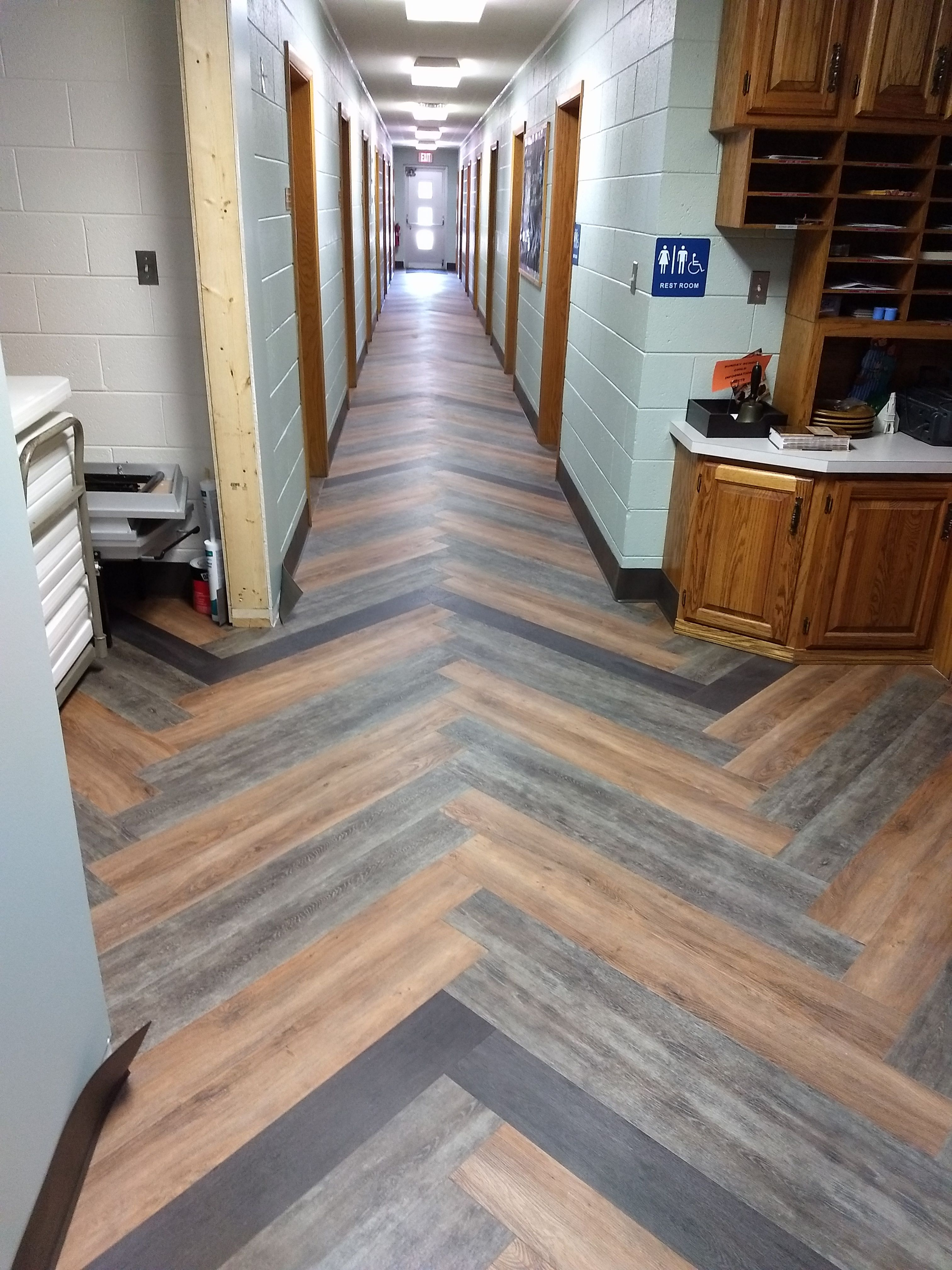 """EF Contract's Aged Wood Collection (6"""" x 48"""") Herringbone"""
