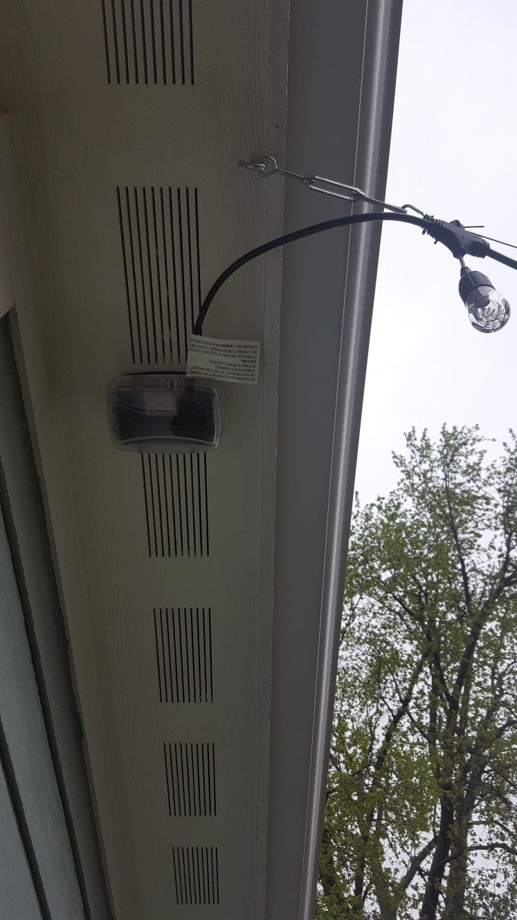 2 We Hired An Electrician To Install A Gfci Outlet In The Garage Wiring Soffit He Then Connected It Light Switch Inside