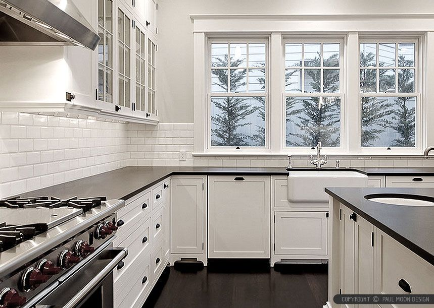 Tile Backsplash Ideas for Black Granite Countertops
