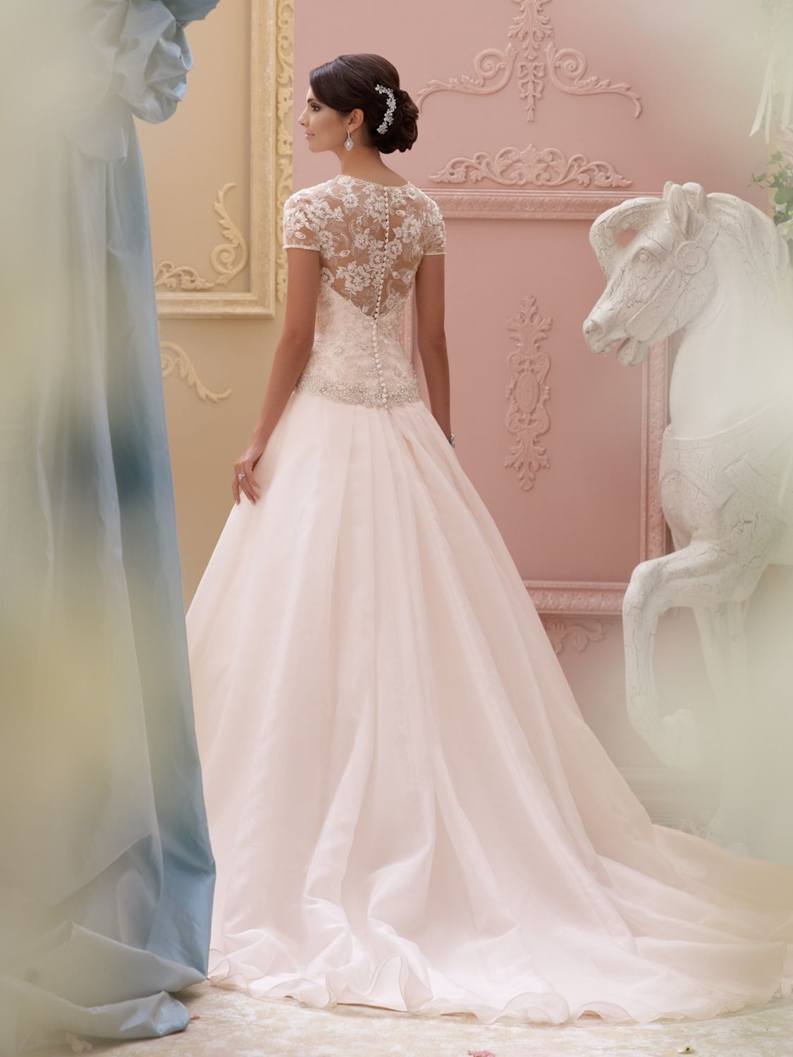 David tutera for mon cheri wedding dress style house of
