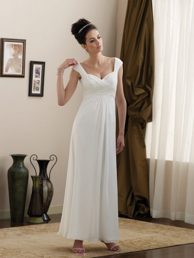 Simple informal wedding dresses simple full length off for Simple casual wedding dresses