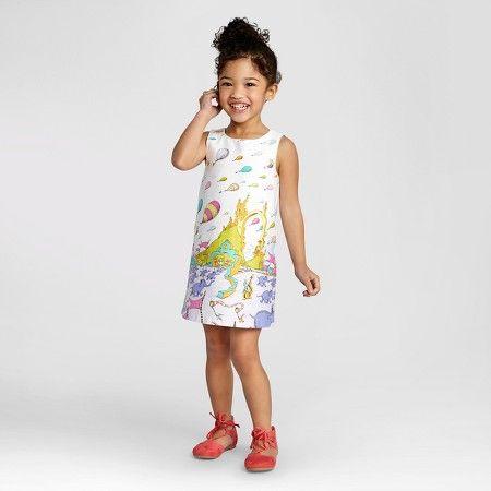d2f235be59a Toddler Girls  Dr. Seuss Shift Dress from OshKosh® Fresh White 5T   Target