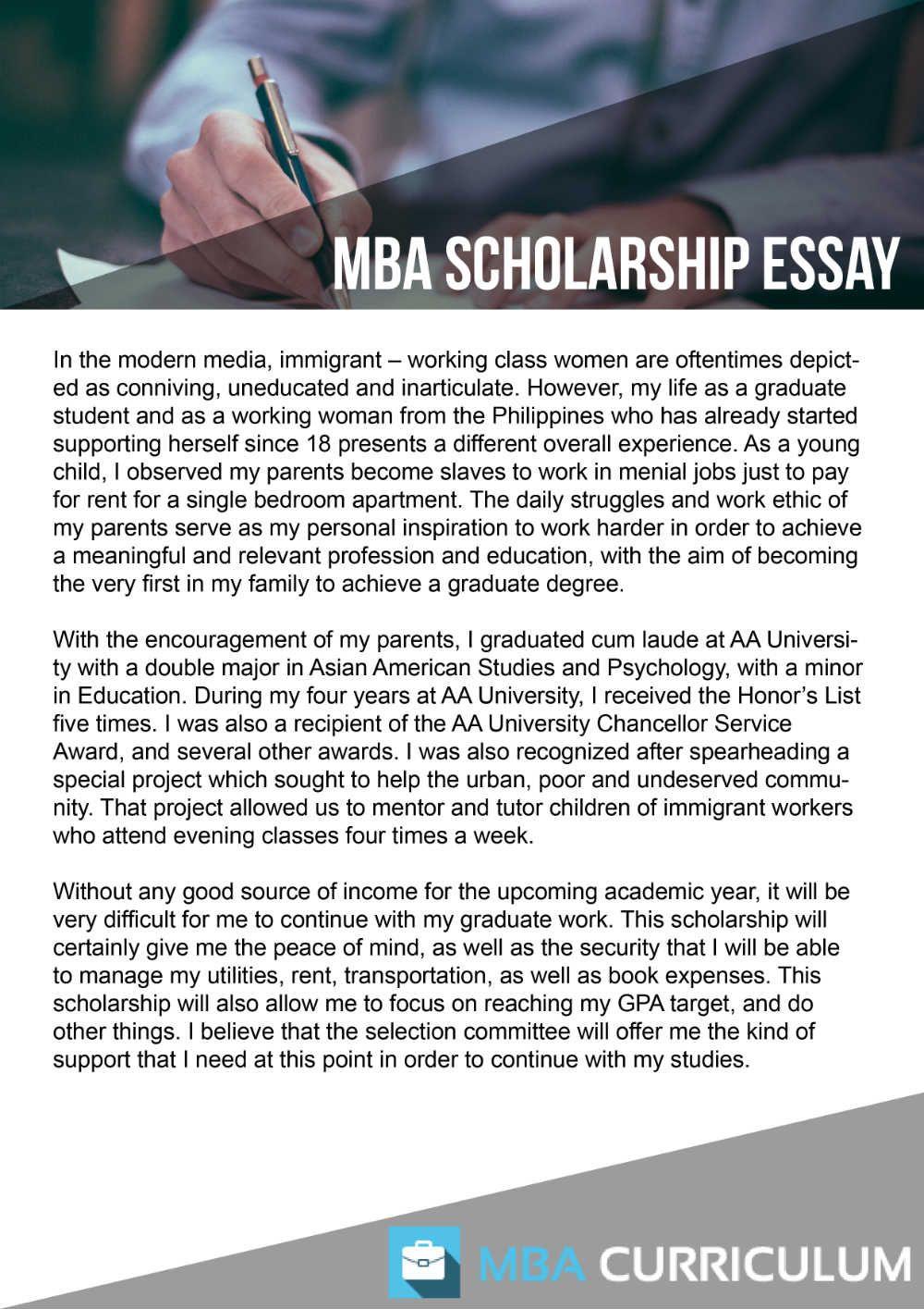 Pin On Mba Scholarship Essay Sample
