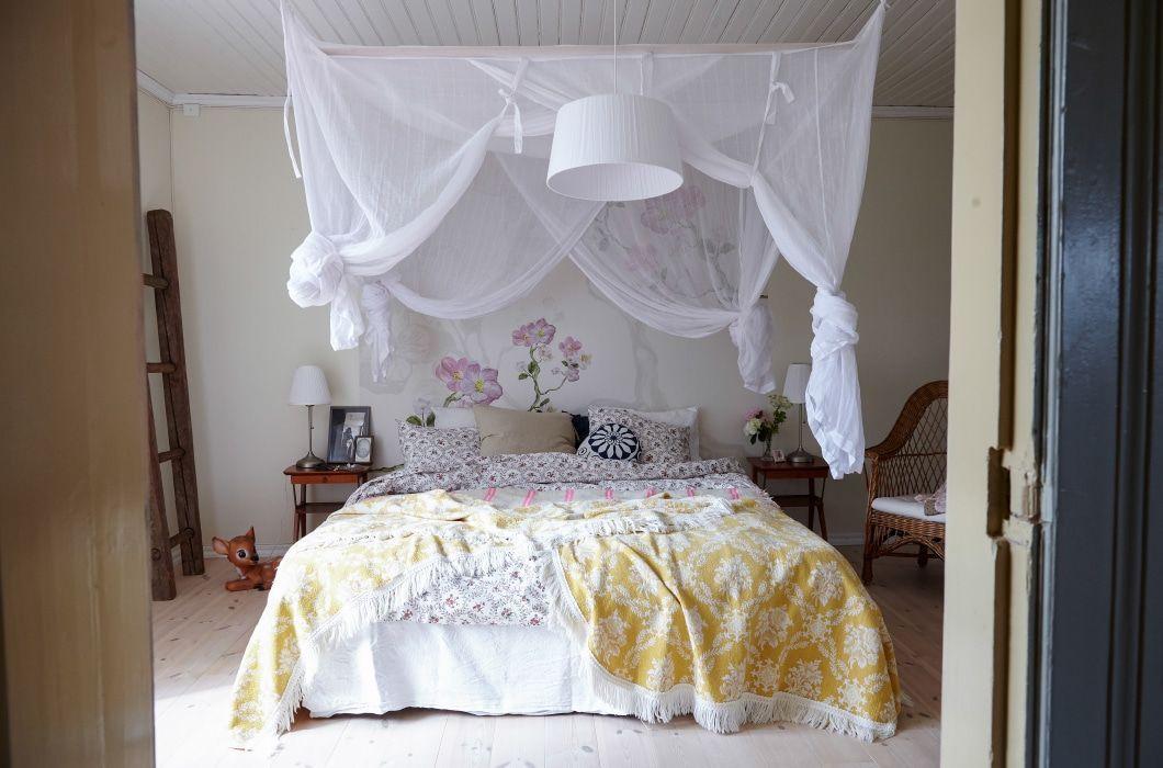 Zanzariera Da Letto Matrimoniale : Una camera da favola con il letto a baldacchino ikea bedroom