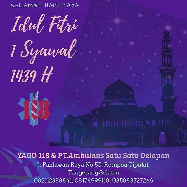 Selamat Idul Fitri 1 Syawal 1439 H Mohon Maaf Lahir Batin