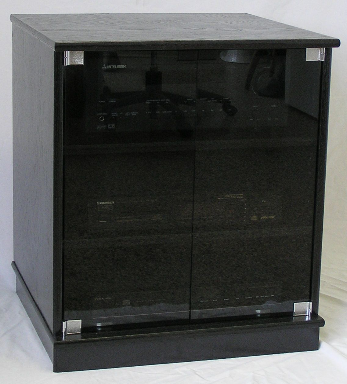 Small Black Cabinet With Glass Doors Interior House Paint Colors