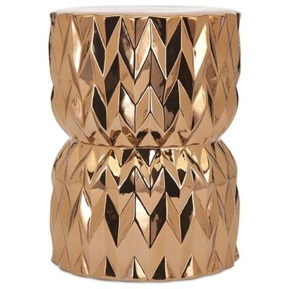 Imax Worldwide 11762 Asmara Ceramic Garden Stool In Copper