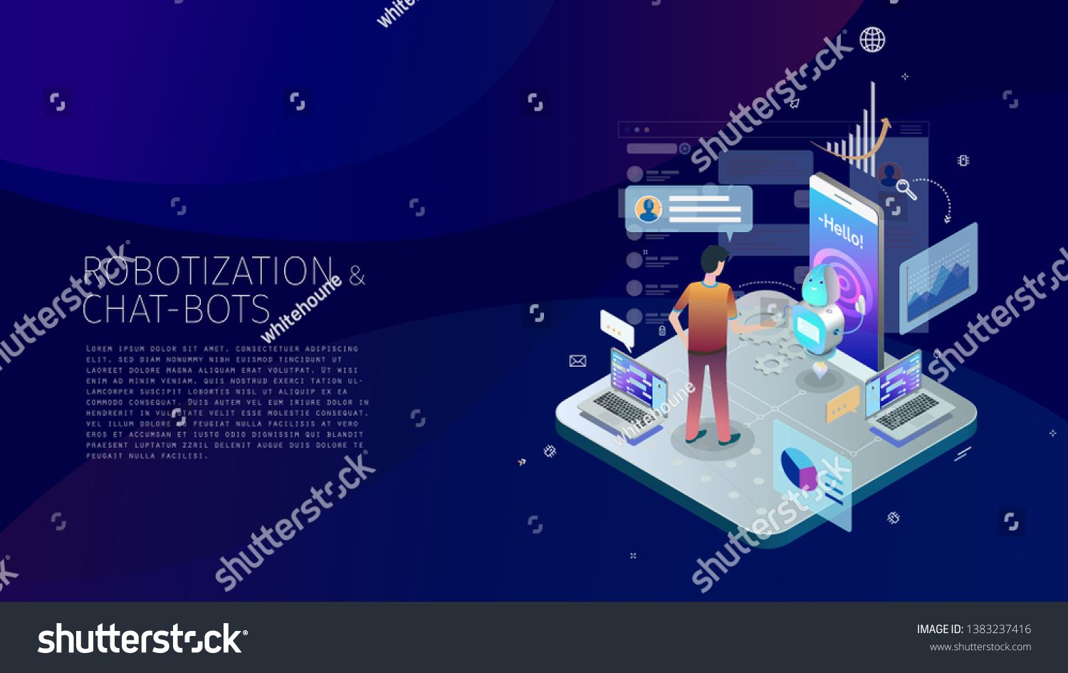 Trendy Design Style Isometric With Gradients And Line Art Design Elements Conceptual Composition With A Person Inte Line Art Design Line Art Infographic Design